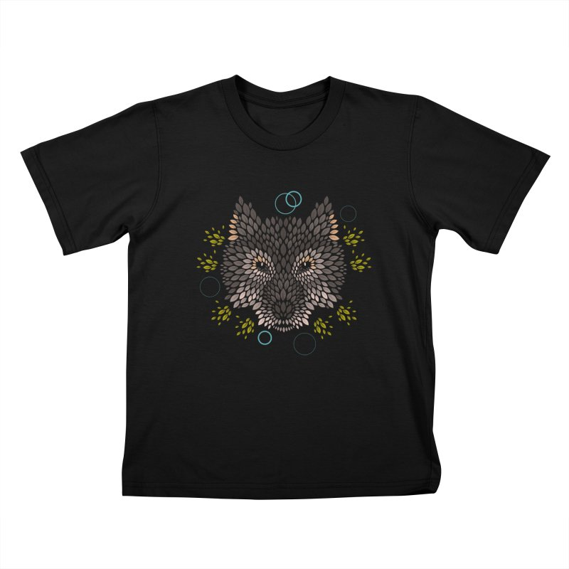 Wolf Face Kids Toddler T-Shirt by letterq's Artist Shop