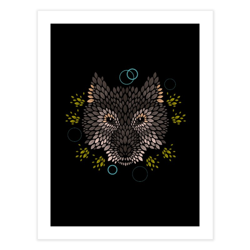 Wolf Face Home Throw Pillow by letterq's Artist Shop