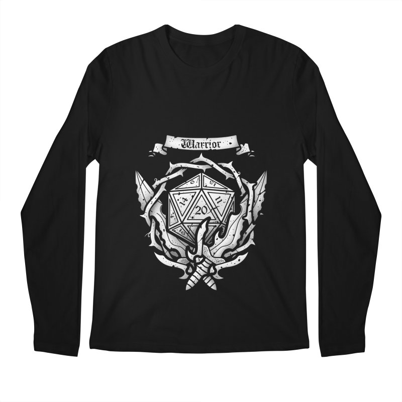 Warrior Crest Men's Longsleeve T-Shirt by letterq's Artist Shop