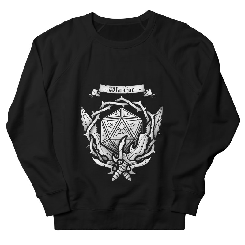 Warrior Crest Men's Sweatshirt by letterq's Artist Shop
