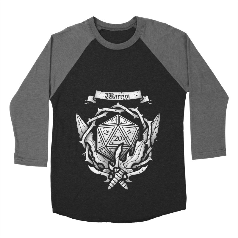 Warrior Crest Men's Baseball Triblend T-Shirt by letterq's Artist Shop