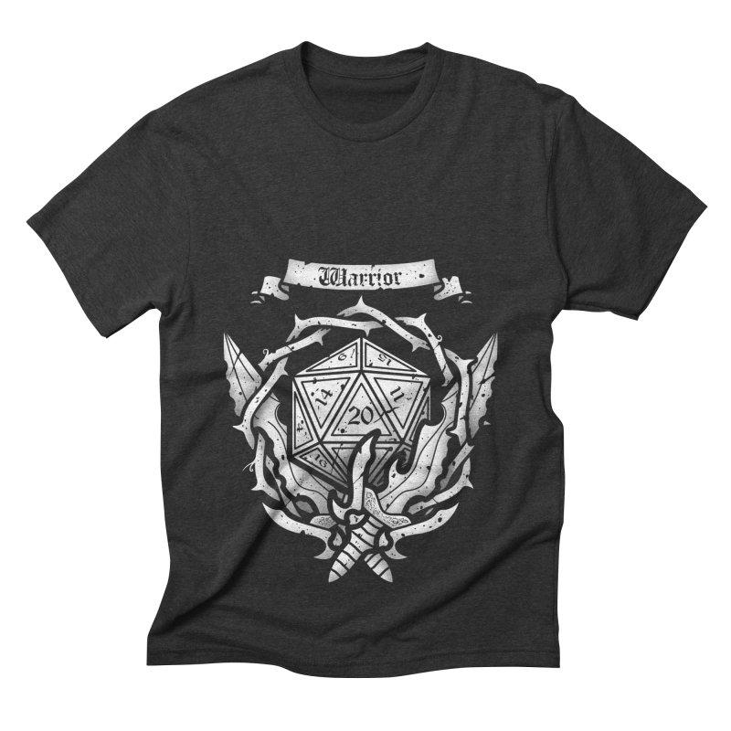 Warrior Crest Men's Triblend T-shirt by letterq's Artist Shop