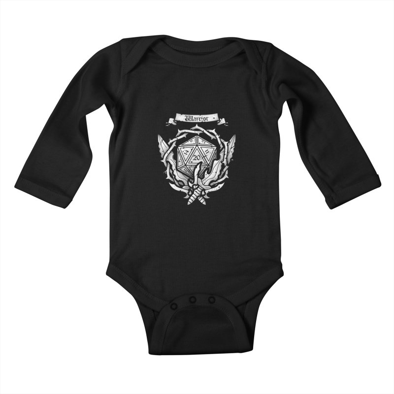 Warrior Crest Kids Baby Longsleeve Bodysuit by letterq's Artist Shop