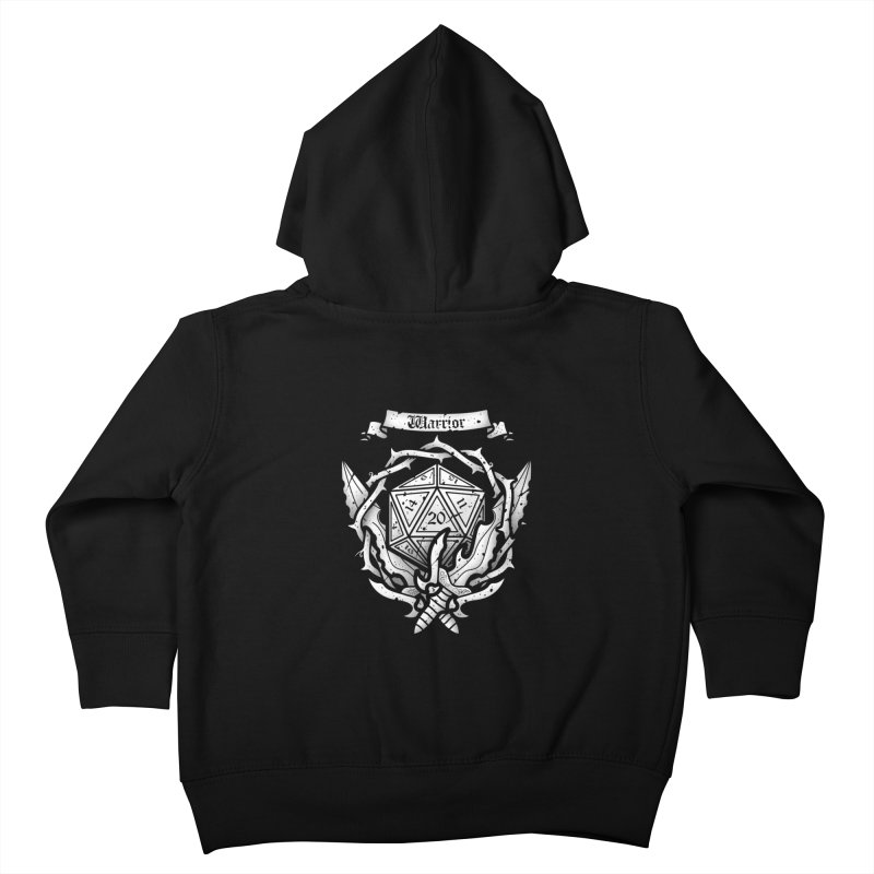 Warrior Crest Kids Toddler Zip-Up Hoody by letterq's Artist Shop