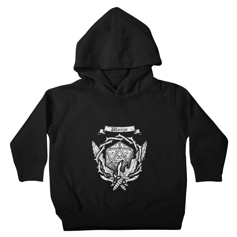 Warrior Crest Kids Toddler Pullover Hoody by letterq's Artist Shop