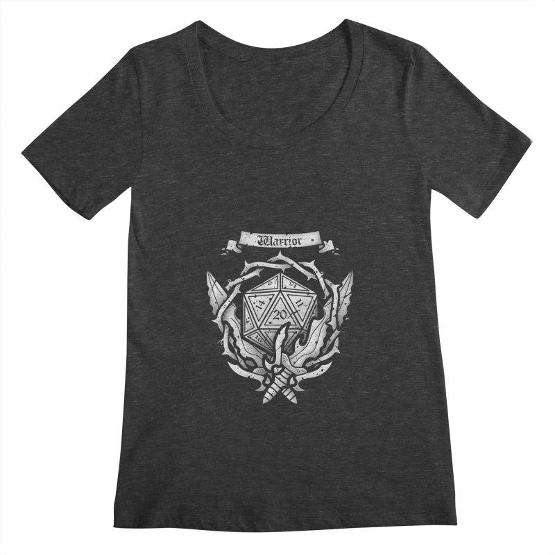 Warrior Crest Women's Scoopneck by letterq's Artist Shop