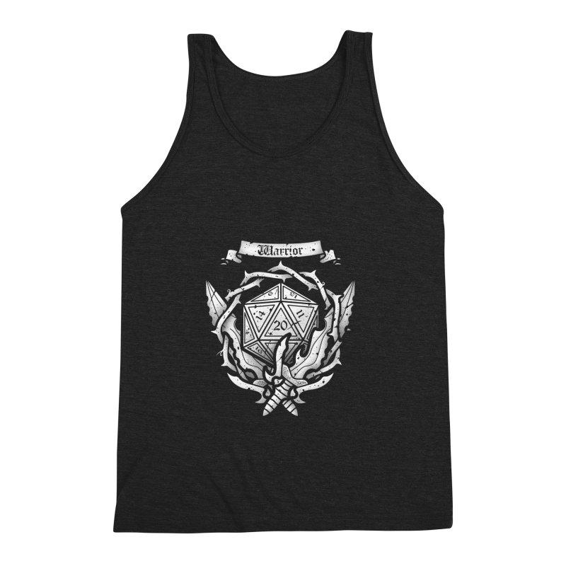 Warrior Crest Men's Triblend Tank by letterq's Artist Shop