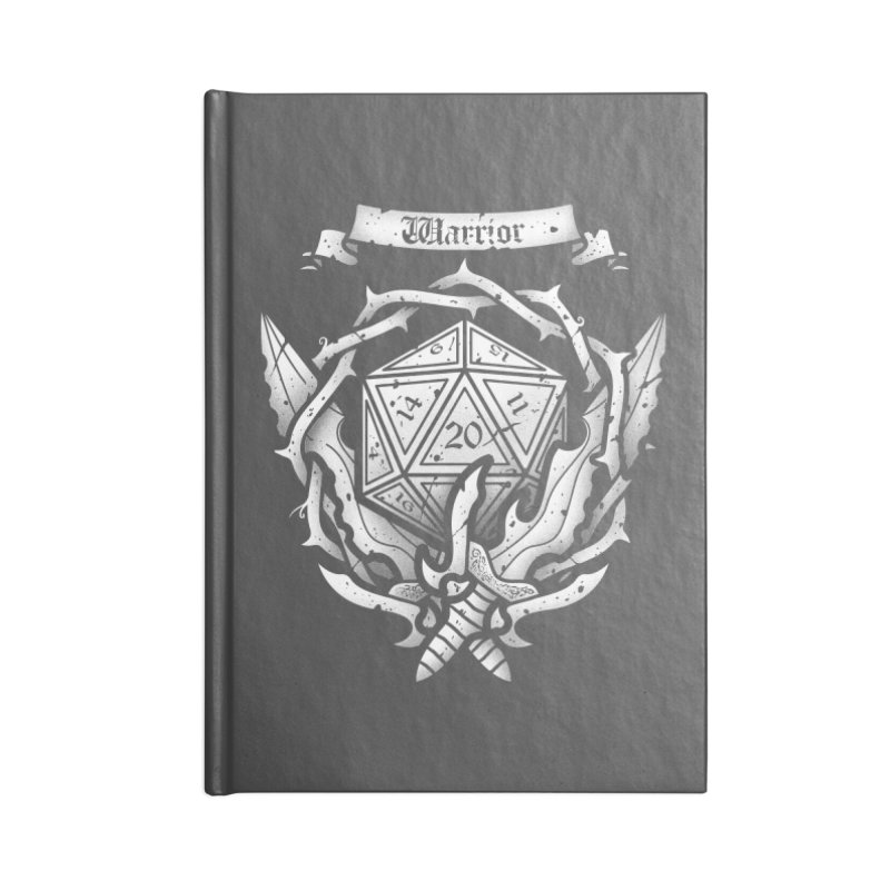 Warrior Crest Accessories Notebook by letterq's Artist Shop