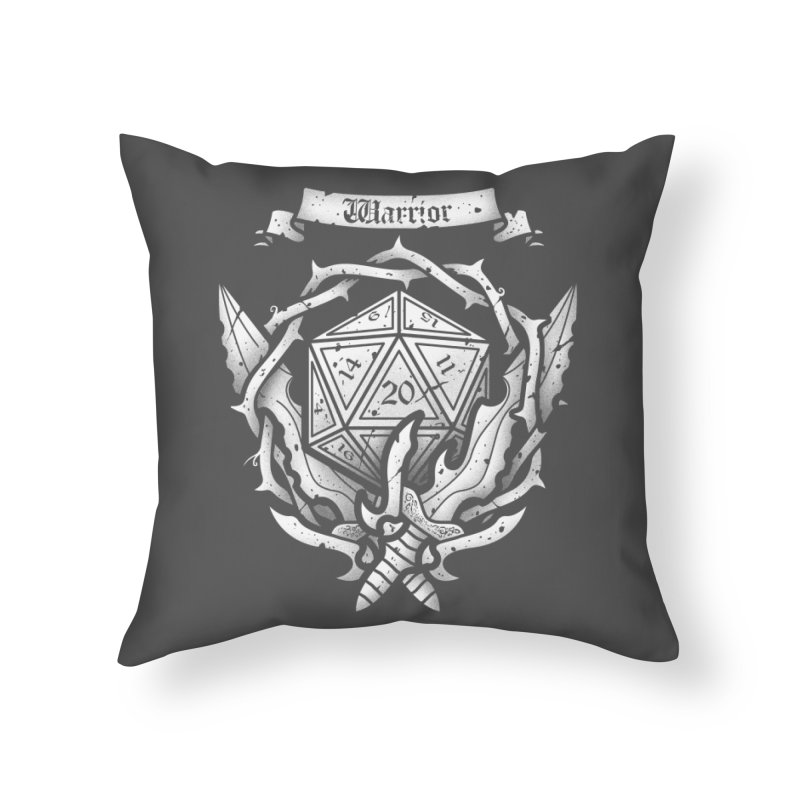 Warrior Crest Home Throw Pillow by letterq's Artist Shop