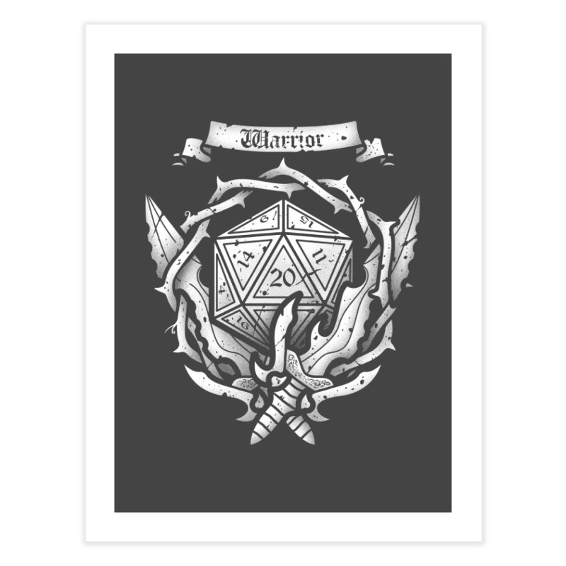 Warrior Crest Home Fine Art Print by letterq's Artist Shop