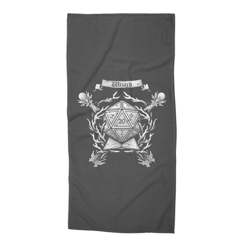 Wizard Crest Accessories Beach Towel by letterq's Artist Shop