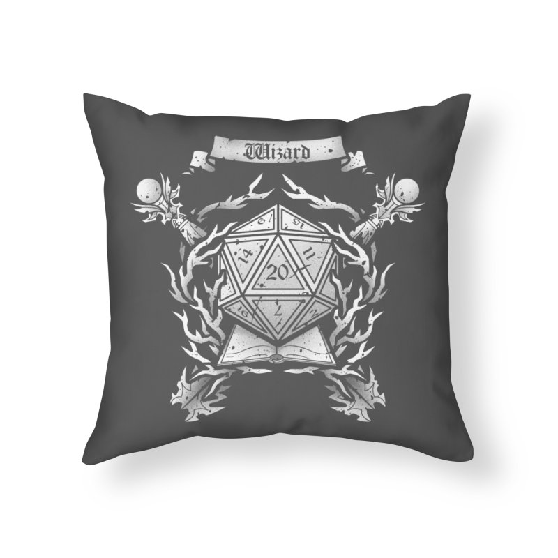 Wizard Crest Home Throw Pillow by letterq's Artist Shop