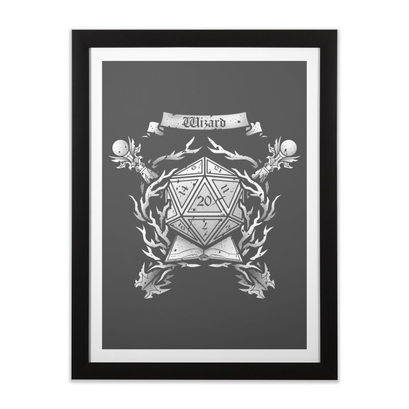 Wizard Crest Home Framed Fine Art Print by letterq's Artist Shop