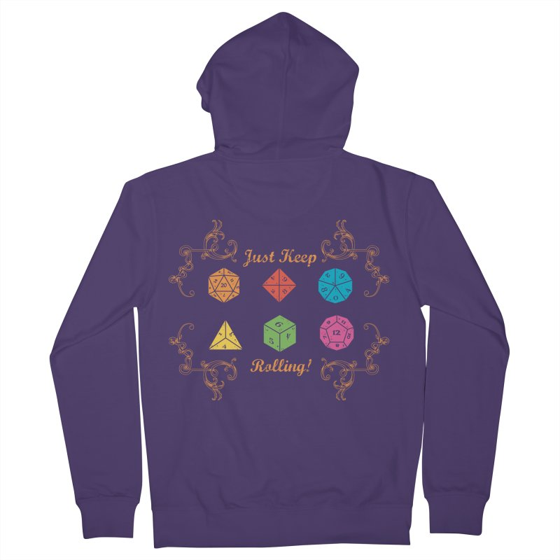Just Keep Rolling Women's Zip-Up Hoody by letterq's Artist Shop