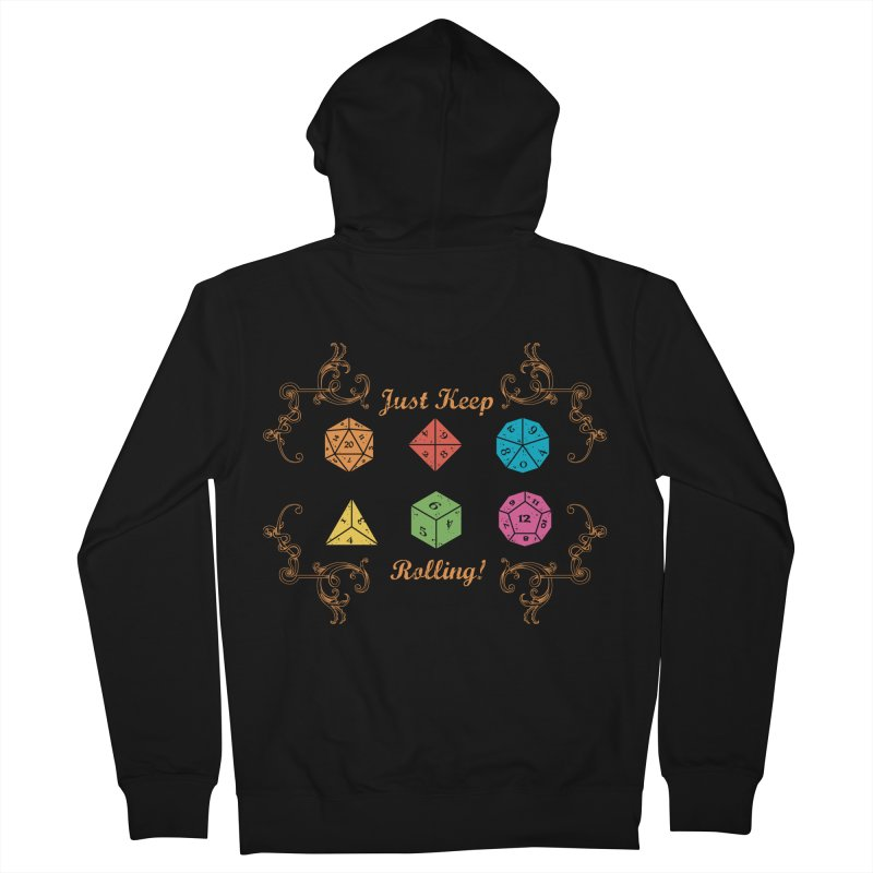 Just Keep Rolling Men's Zip-Up Hoody by letterq's Artist Shop