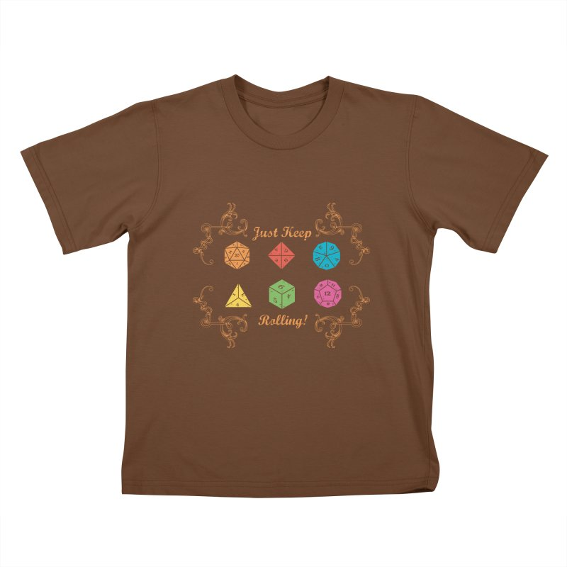 Just Keep Rolling Kids T-shirt by letterq's Artist Shop