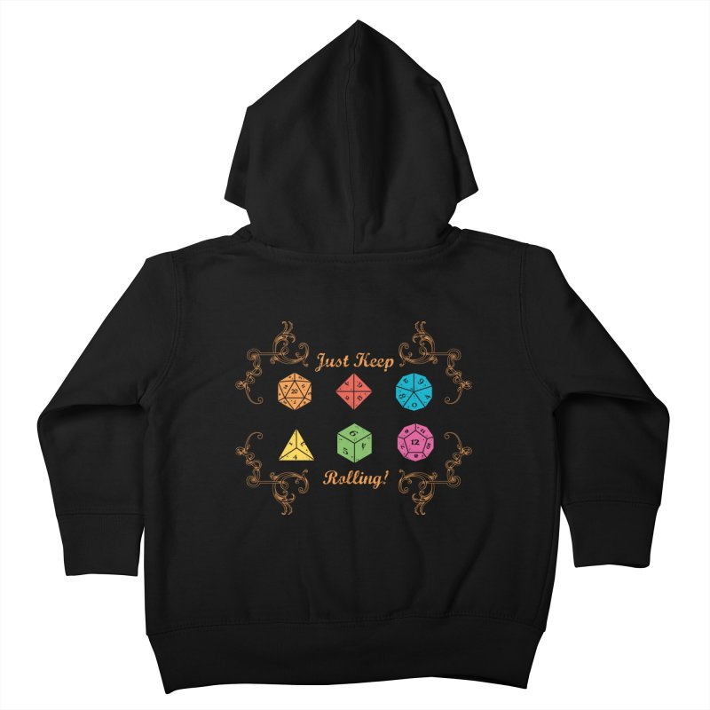 Just Keep Rolling Kids Toddler Zip-Up Hoody by letterq's Artist Shop