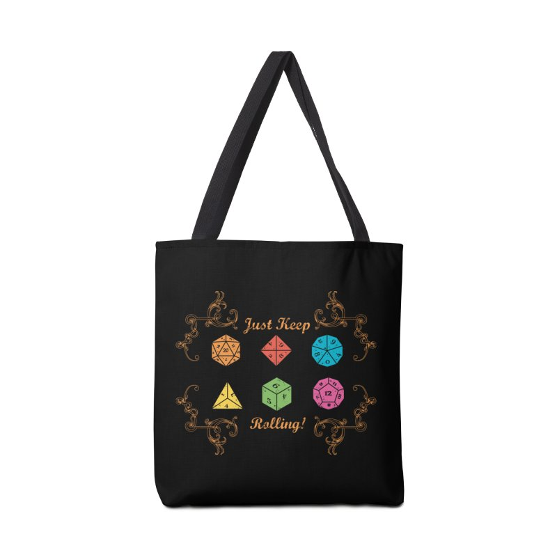 Just Keep Rolling Accessories Bag by letterq's Artist Shop