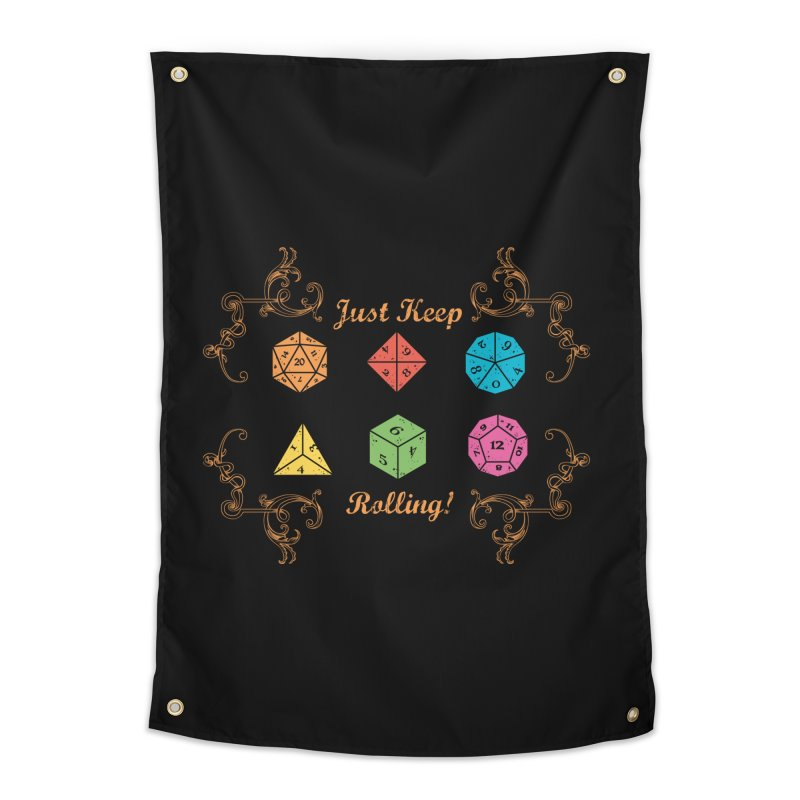 Just Keep Rolling Home Tapestry by letterq's Artist Shop
