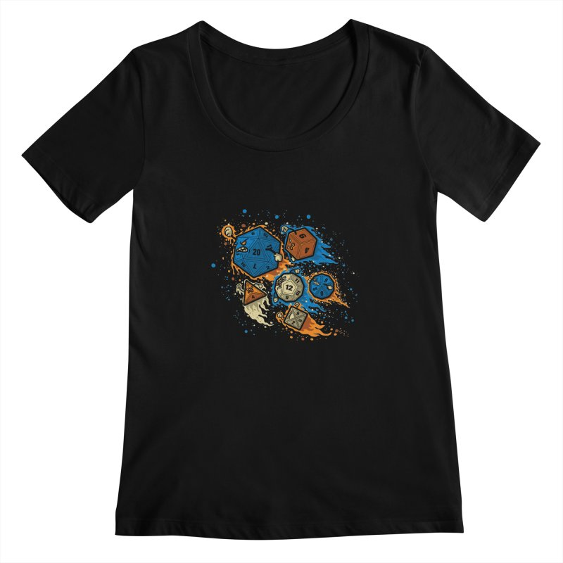 RPG United Remix Women's Scoopneck by letterq's Artist Shop