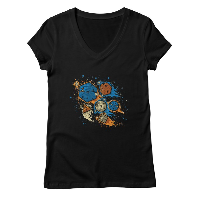 RPG United Remix Women's V-Neck by letterq's Artist Shop
