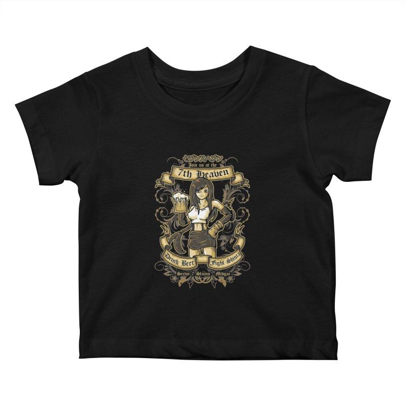 7th Heaven Kids Baby T-Shirt by letterq's Artist Shop