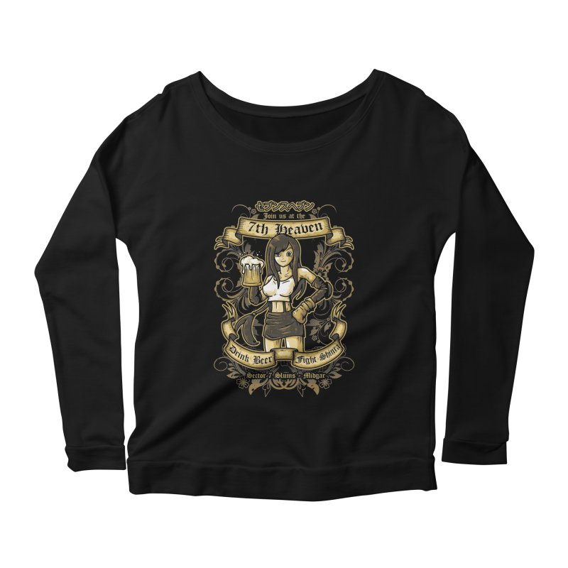 7th Heaven Women's Longsleeve Scoopneck  by letterq's Artist Shop
