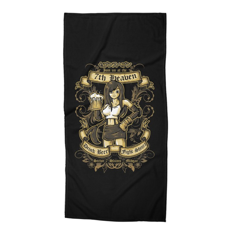 7th Heaven Accessories Beach Towel by letterq's Artist Shop