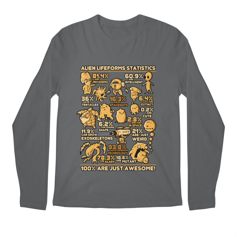 Alien Statistics Men's Longsleeve T-Shirt by letterq's Artist Shop