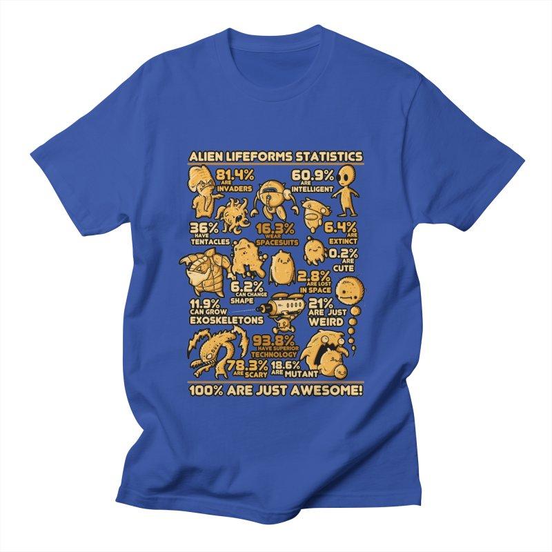 Alien Statistics Men's T-Shirt by letterq's Artist Shop