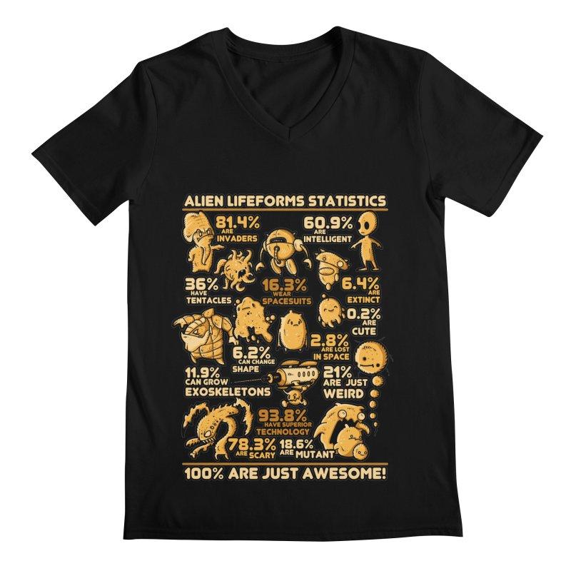 Alien Statistics Men's V-Neck by letterq's Artist Shop