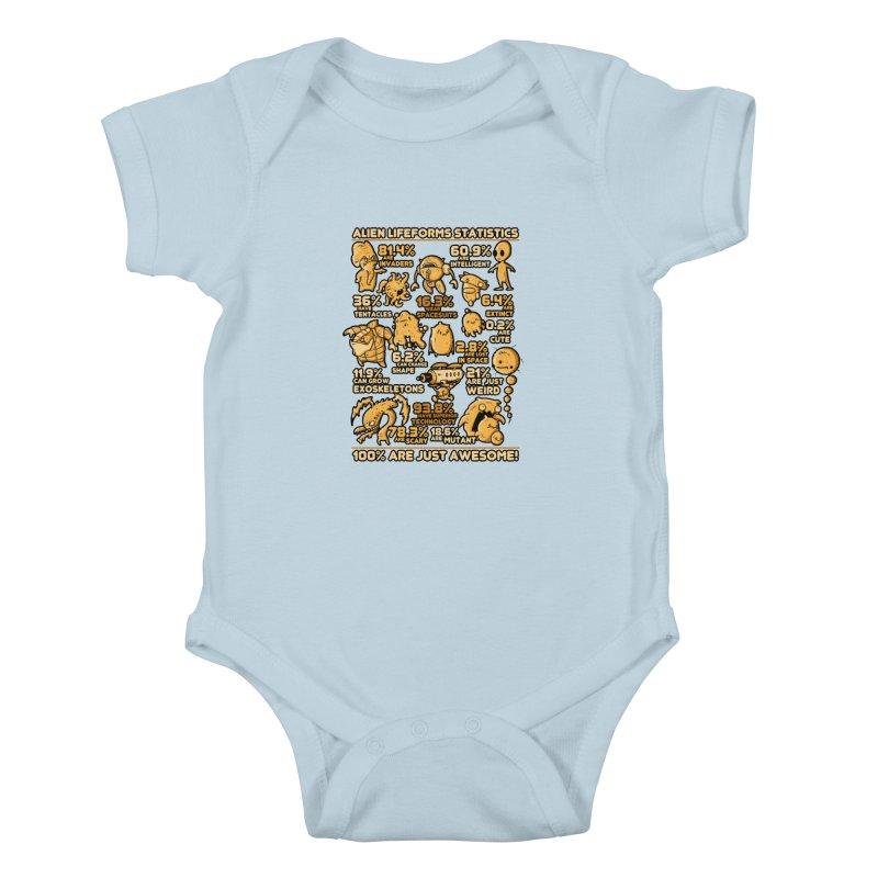 Alien Statistics Kids Baby Bodysuit by letterq's Artist Shop