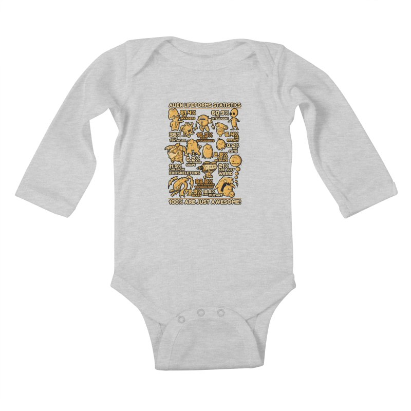 Alien Statistics Kids Baby Longsleeve Bodysuit by letterq's Artist Shop