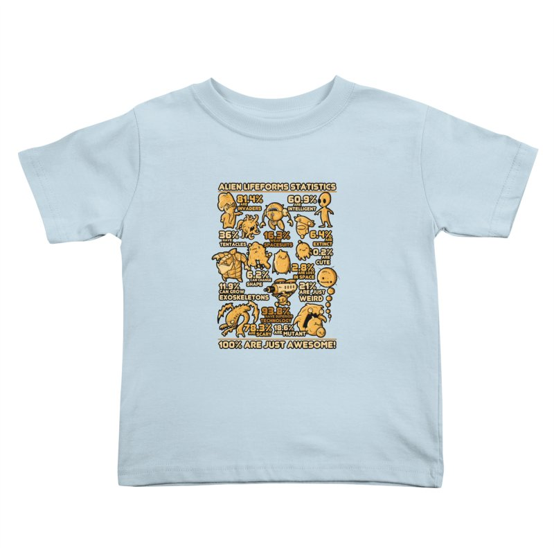 Alien Statistics Kids Toddler T-Shirt by letterq's Artist Shop