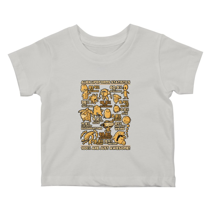 Alien Statistics Kids Baby T-Shirt by letterq's Artist Shop