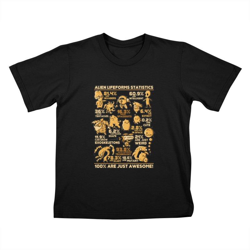 Alien Statistics Kids T-shirt by letterq's Artist Shop