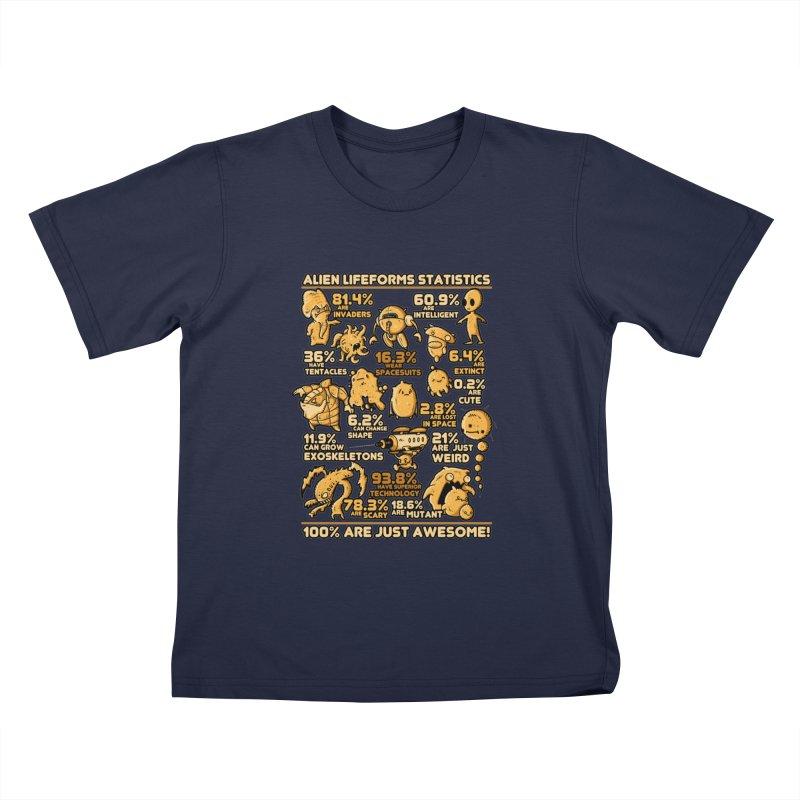 Alien Statistics Kids Toddler T-Shirt by letterq's Artist Shop