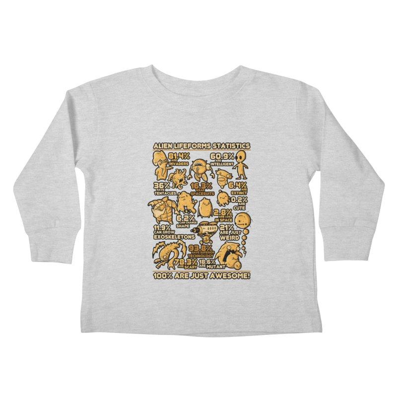Alien Statistics Kids Toddler Longsleeve T-Shirt by letterq's Artist Shop