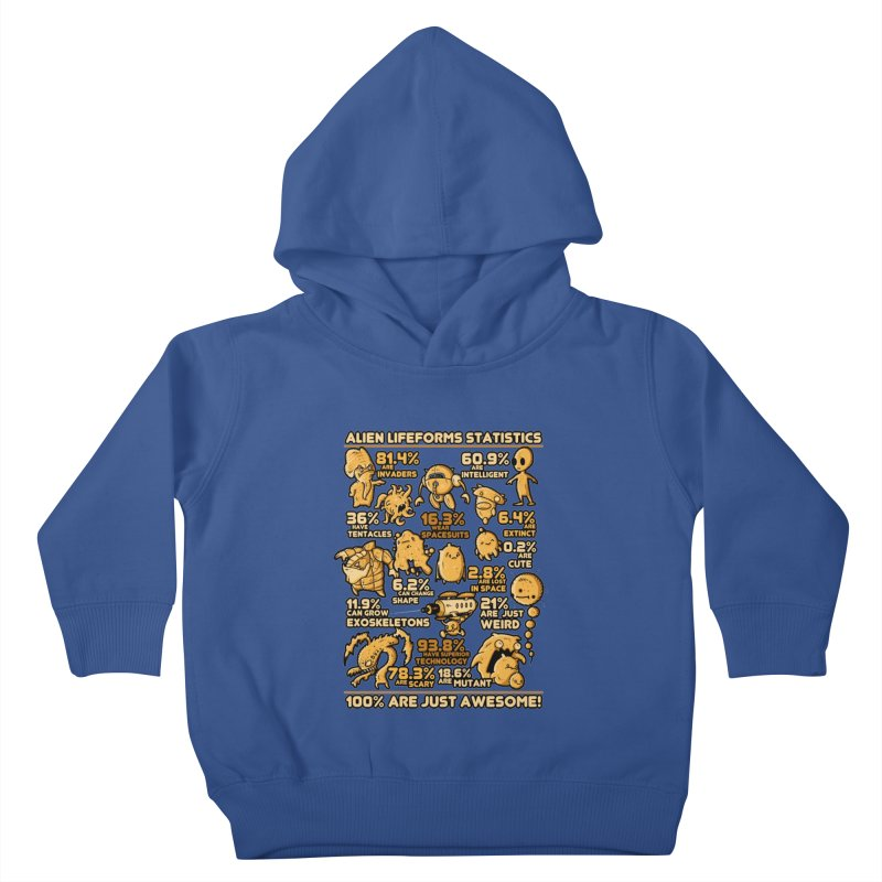 Alien Statistics Kids Toddler Pullover Hoody by letterq's Artist Shop