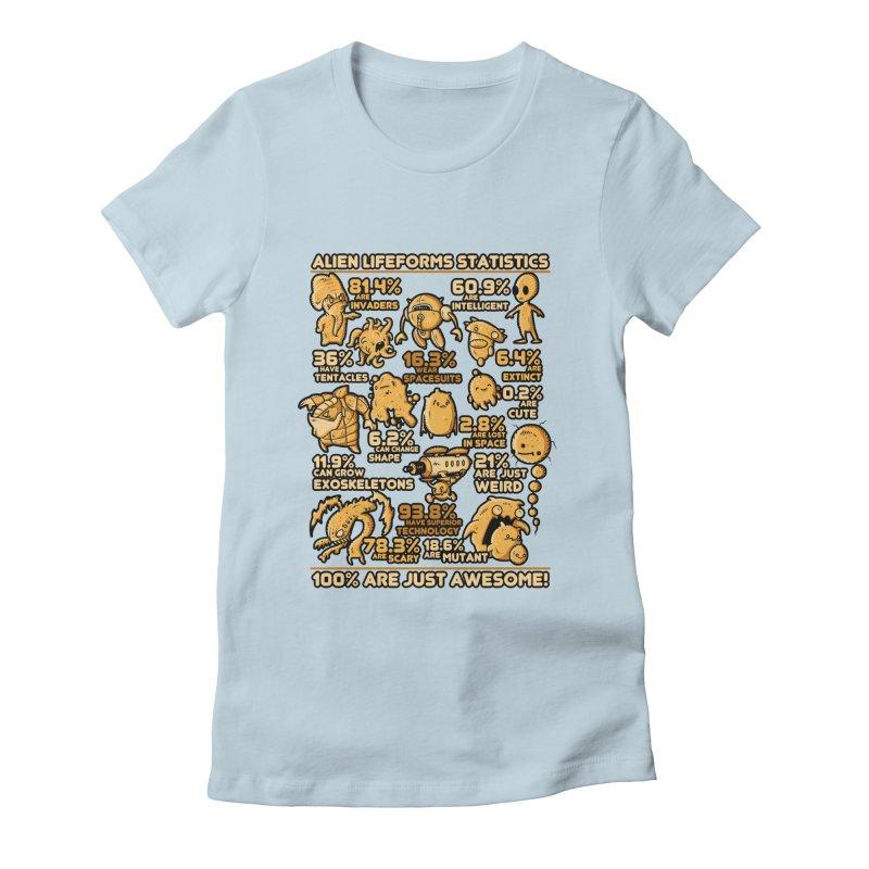 Alien Statistics Women's Fitted T-Shirt by letterq's Artist Shop