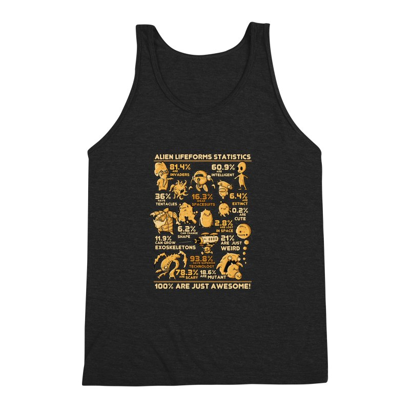 Alien Statistics Men's Triblend Tank by letterq's Artist Shop