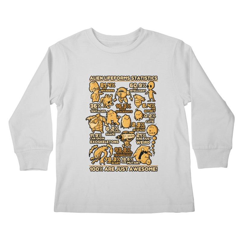 Alien Statistics Kids Longsleeve T-Shirt by letterq's Artist Shop