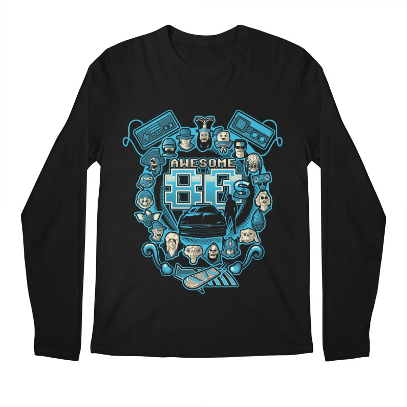 Awesome 80s Men's Longsleeve T-Shirt by letterq's Artist Shop