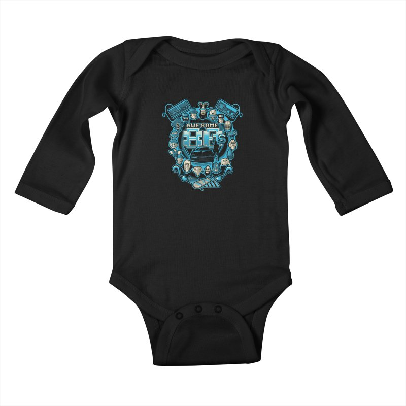 Awesome 80s Kids Baby Longsleeve Bodysuit by letterq's Artist Shop