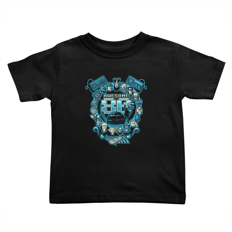 Awesome 80s Kids Toddler T-Shirt by letterq's Artist Shop