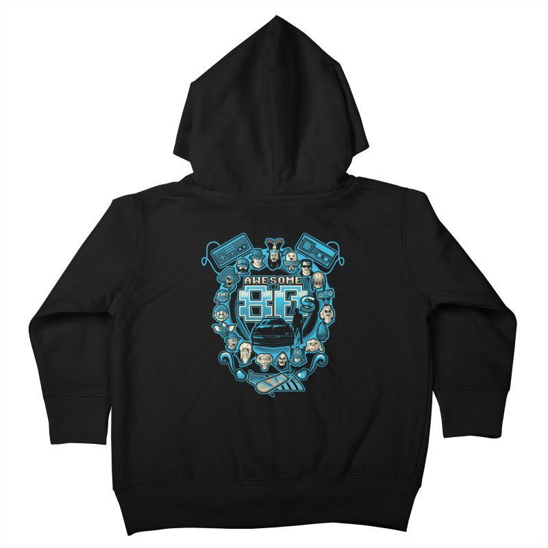 Awesome 80s Kids Toddler Zip-Up Hoody by letterq's Artist Shop