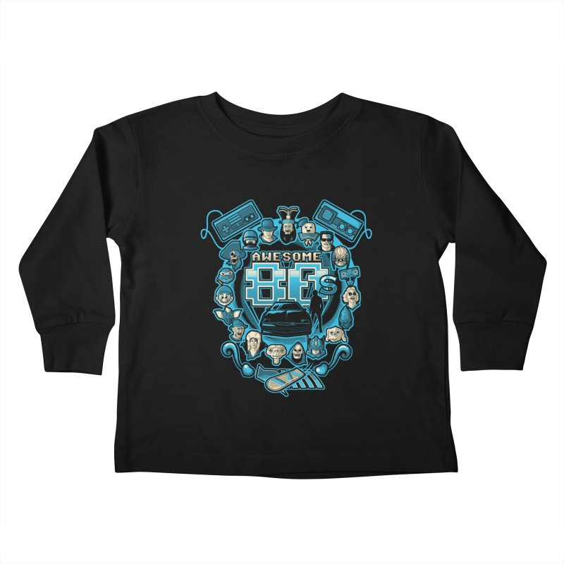 Awesome 80s Kids Toddler Longsleeve T-Shirt by letterq's Artist Shop