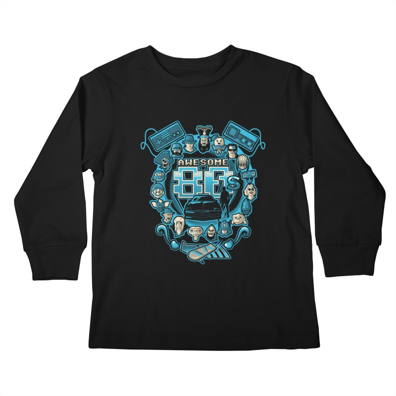 Awesome 80s Kids Longsleeve T-Shirt by letterq's Artist Shop
