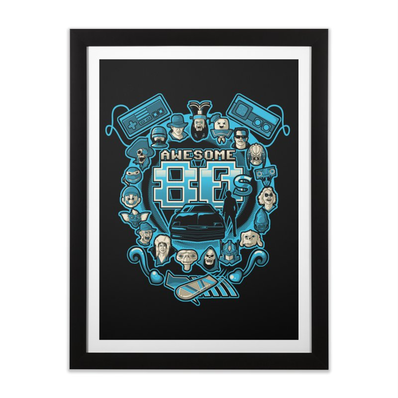 Awesome 80s Home Framed Fine Art Print by letterq's Artist Shop