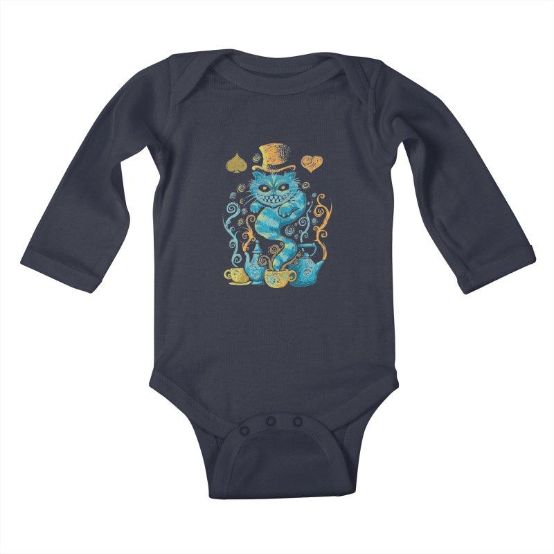 Wonderland Impressions Kids Baby Longsleeve Bodysuit by letterq's Artist Shop